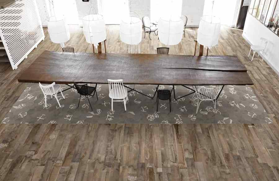 Wood Look Tile  17 Distressed  Rustic  Modern Ideas View in gallery salvaged wood look ceramic tile provenza 1 jpg