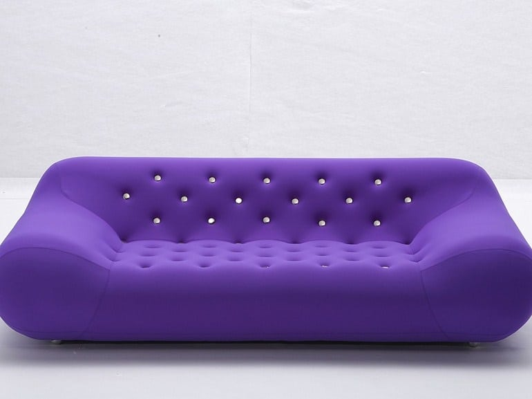 Purple And White Sofa