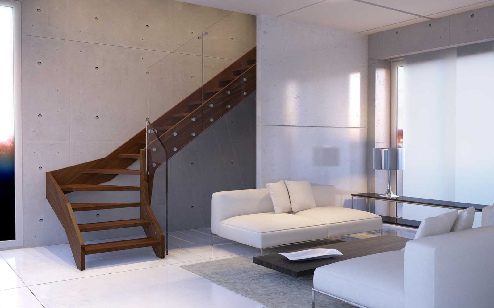 Contemporary Open Wooden Frame Staircases With Glass Railing By | Wood And Glass Staircase | Stair Case | Simple | Spiral | Small | Light Oak Glass