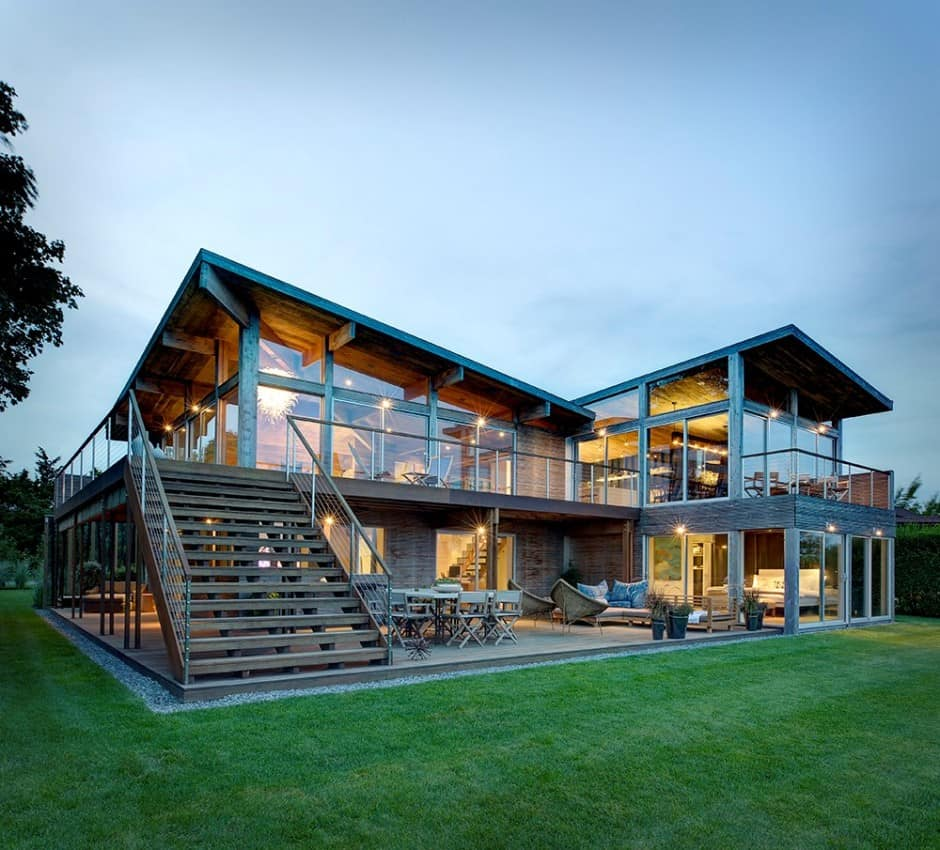 Best Kitchen Gallery: Earthy Timber Clad Interiors Vs Urban Glass Exteriors Cottage of Architectural Home Designs  on rachelxblog.com