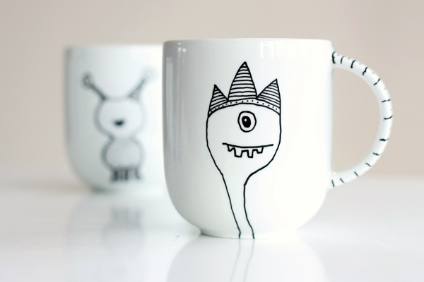 Cool Designs To Draw With Sharpie On Coffee Mugs