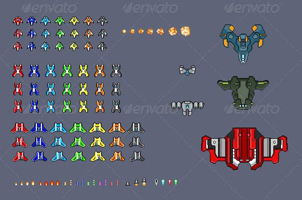 8 Bit Enemy Sprite Sheet