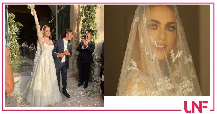 Miriam Leone bellissima in abito da sposa è raggiante (FOTO)