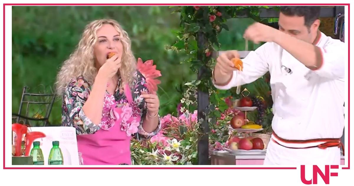 Antonella Clerici vorrebbe evitare di mangiare in tv e racconta cosa fa al mattino