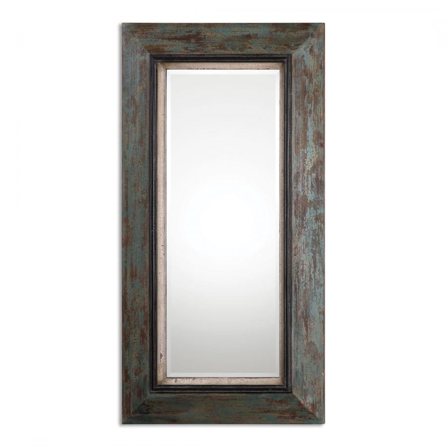 Bronwen Distressed Rectangular Leaner Mirror Uvu13930