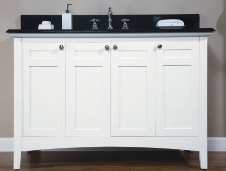 48 Inch Single Sink Shaker Style Bathroom Vanity With