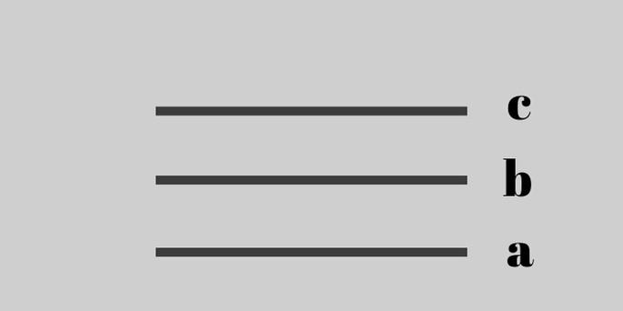 если две прямые параллельны третьей, то между собой они также параллельны