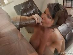 Lex tests Shay, who wants to join the bbc club! Big tits blowjob deepthroat