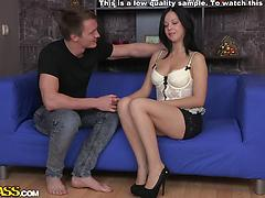 Enormous jizz shot on the fanny for super-fucking-hot huge-titted amateur female Anal high heels lingerie