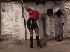 Girls in strappado Bdsm