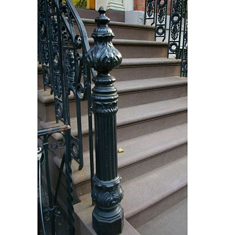 Cast Iron Newel Posts This Old House   Cast Iron Staircase Railing   Modern   Grill   Rod Iron   Floor   Interior