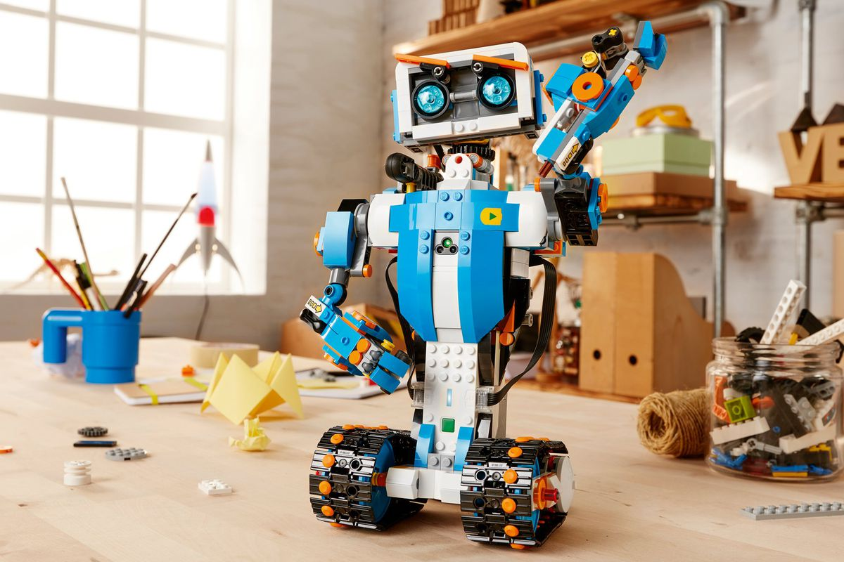 CES 2017  Lego announces robot making toolkit for kids   Curbed Lego s    Boost    toolkit lets kids ages seven and up learn to code and build  robots  like this one  Photos courtesy Lego