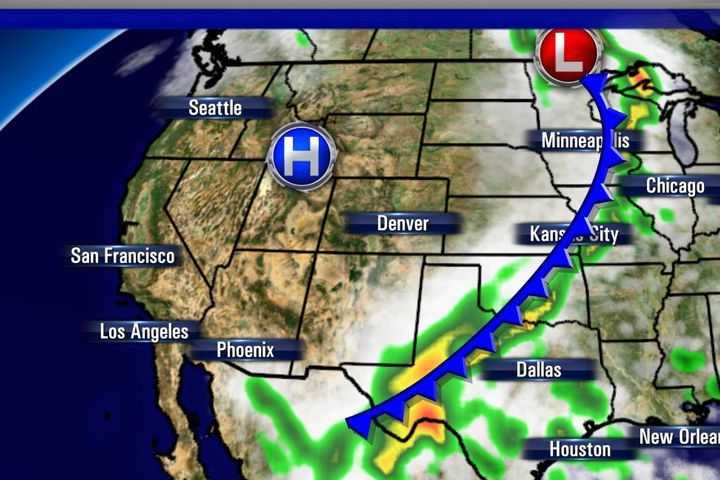 HD Decor Images » 2016 NFL weather forecast  Week 3   Mostly dry Sunday   SBNation com Most of the games across the NFL will be dry  but a cold front stretching  from Minnesota down to Texas will bring chances of showers and storms to a  few