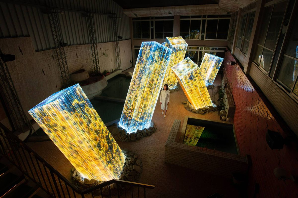 New Teamlab Show Features Megaliths Rising From Bath