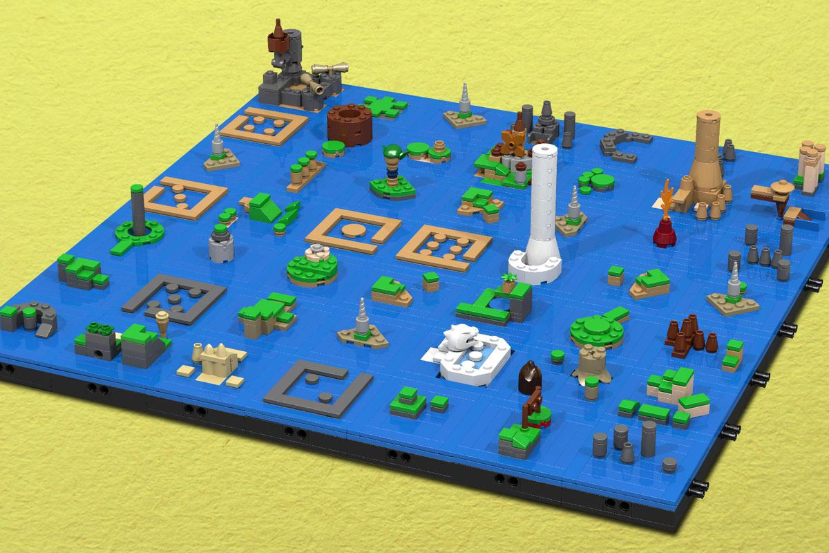 Lego Wind Waker map will have you busy through New Year s   Polygon Reddit user BrucilSprout has created a set of instructions you can use to  create the map from The Legend of Zelda  The Wind Waker out of Lego