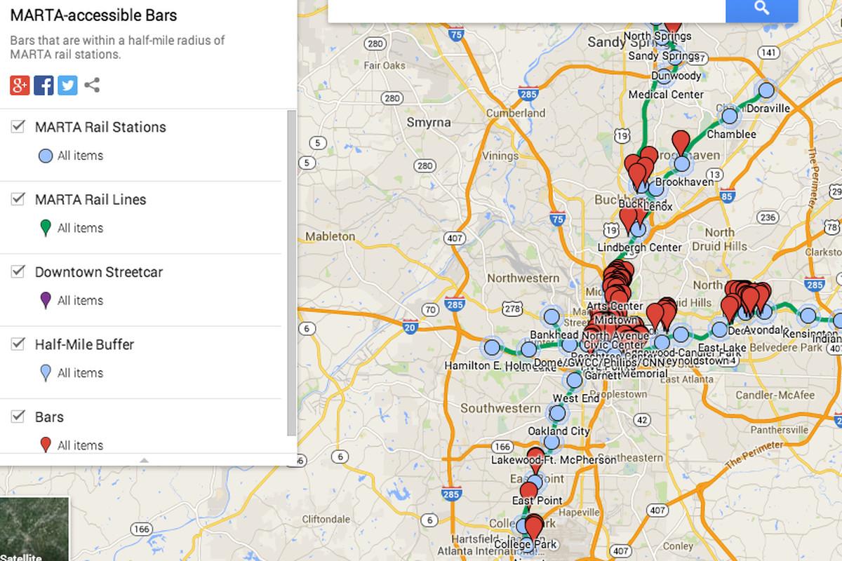 Map Marta Atlanta Downtown