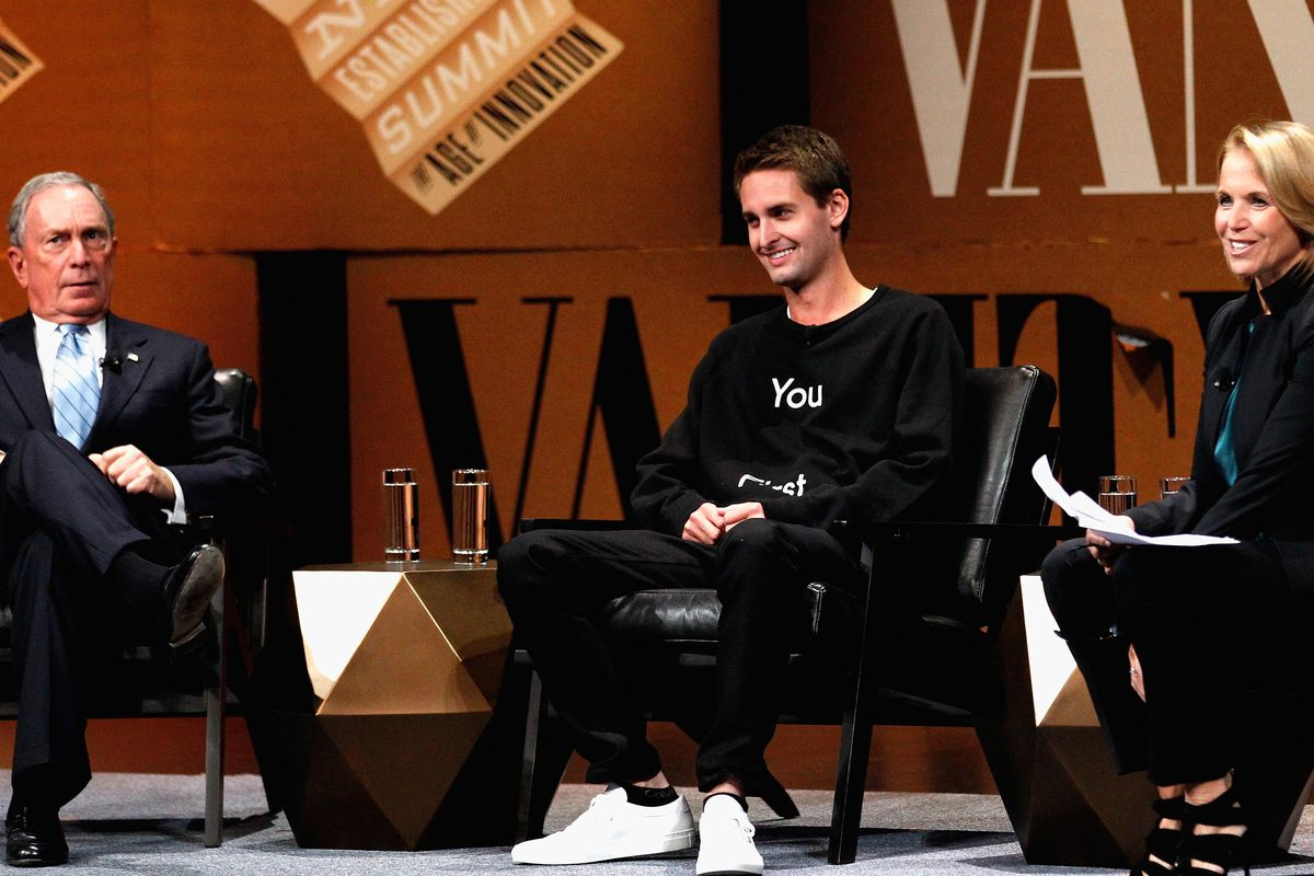 Evan Spiegel and Mike Bloomberg on Sexting and Dealing ...