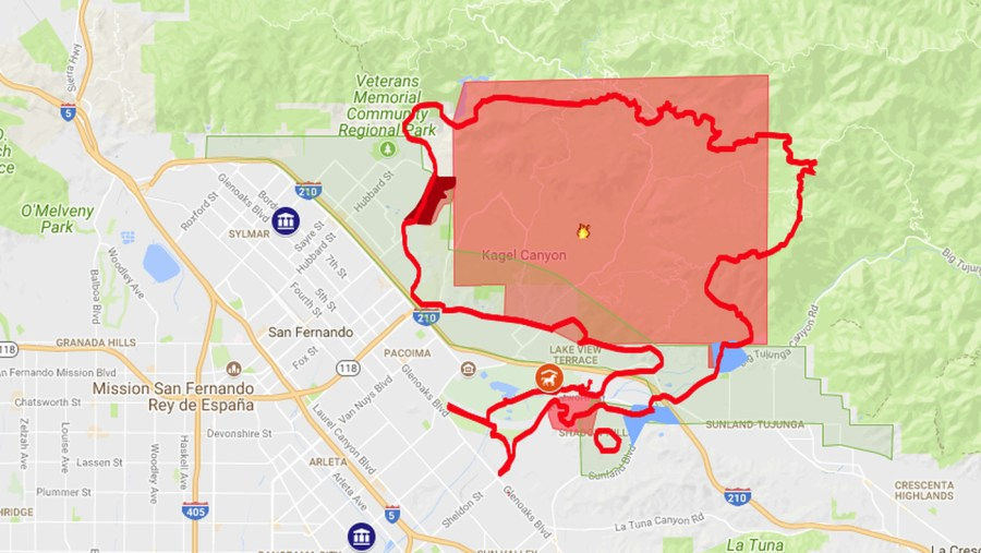 Creek Fire map  including evacuation zones   Curbed LA