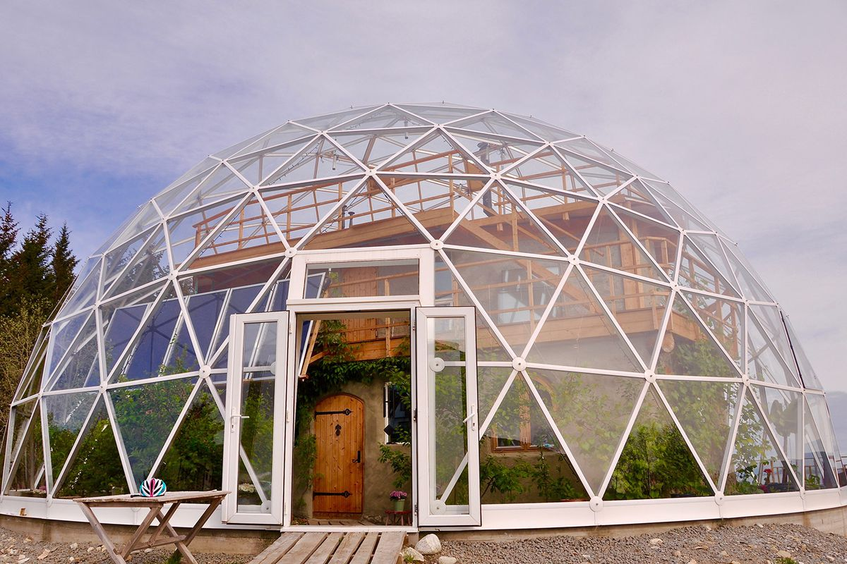 Best Kitchen Gallery: Inside A Family's Geodesic Dome Home In The Arctic Circle Curbed of Eco Friendly Dome Home on rachelxblog.com