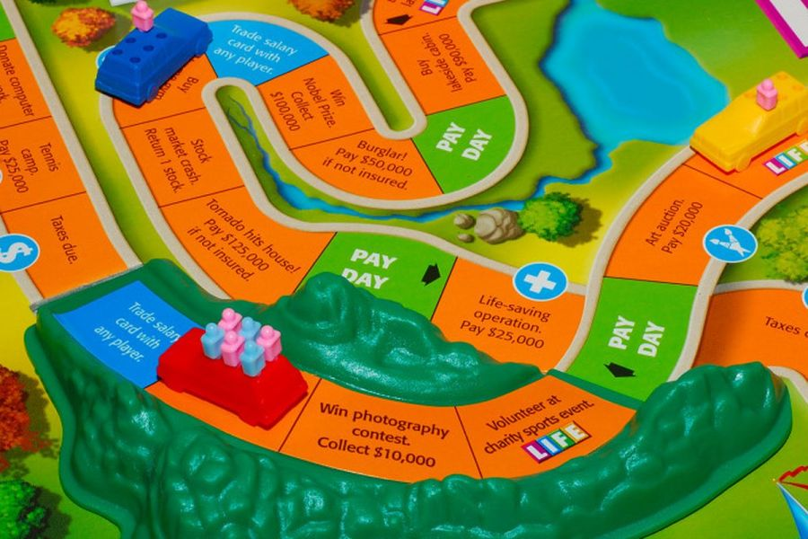 Why the game of Life used to have poverty  suicide  and ruin   Vox A more recent version of the game of Life  Cliff Muller