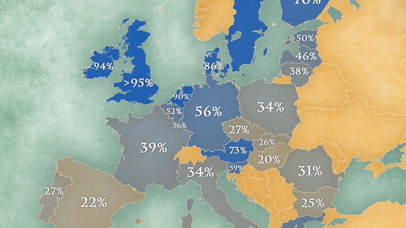 Map  Where Europeans speak English   Vox