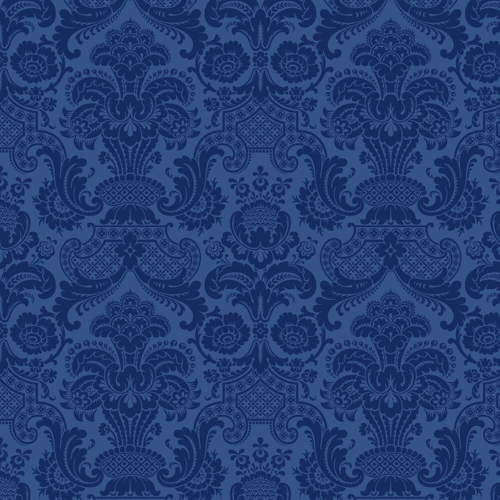Petrouchka By Cole Amp Son Blue Wallpaper Wallpaper Direct