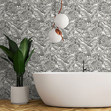 Bathroom wallpapers   Wallpaper Direct Albany Emily Charcoal Wallpaper