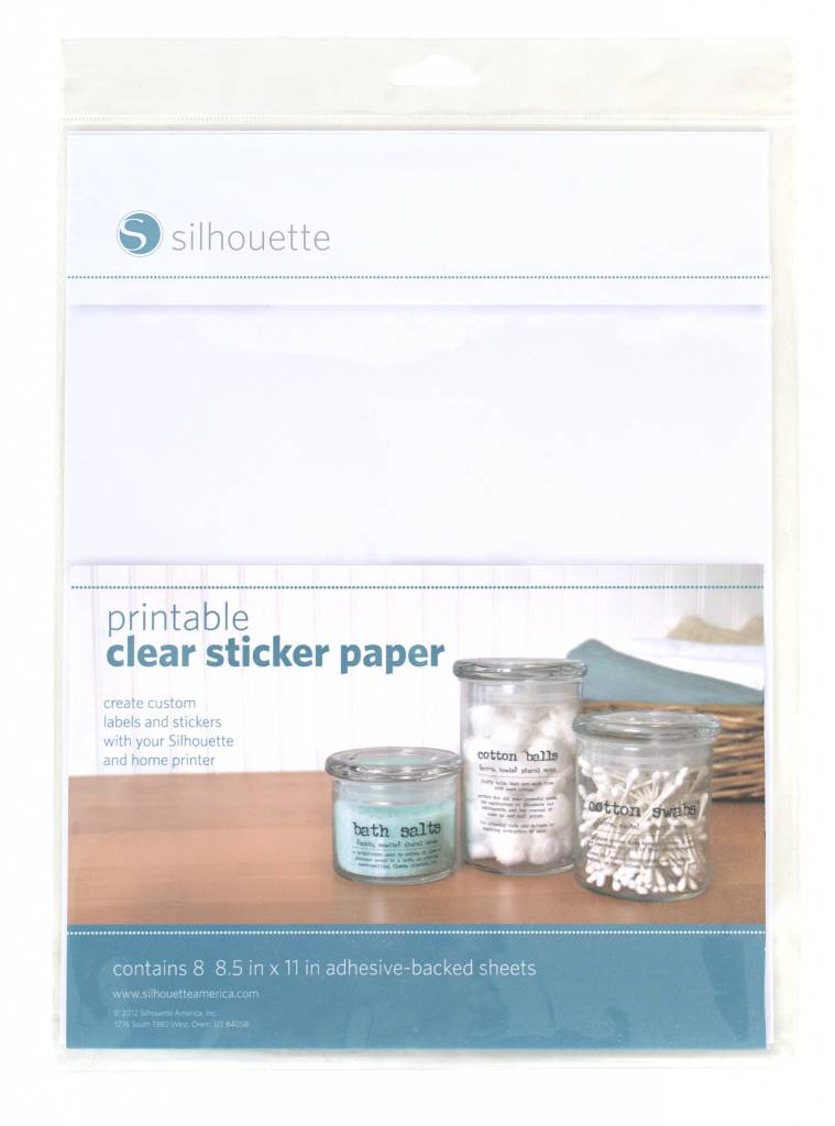 Silhouette Printable Clear Sticker Paper - Silhouetteshop