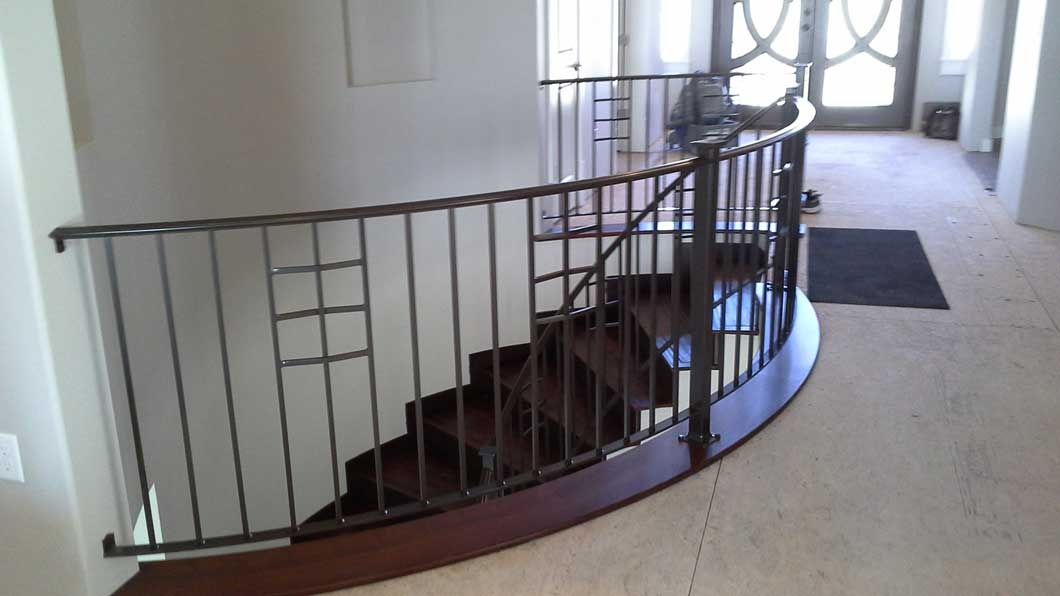 Indoor Outdoor Stair Rails Billings Mt Artistic Iron | Metal Handrails For Outdoor Steps | Hand | Front Porch Stair Railing | Outside | Patio | Gas Pipe
