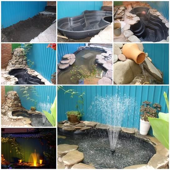 Building Garden Fish Pond