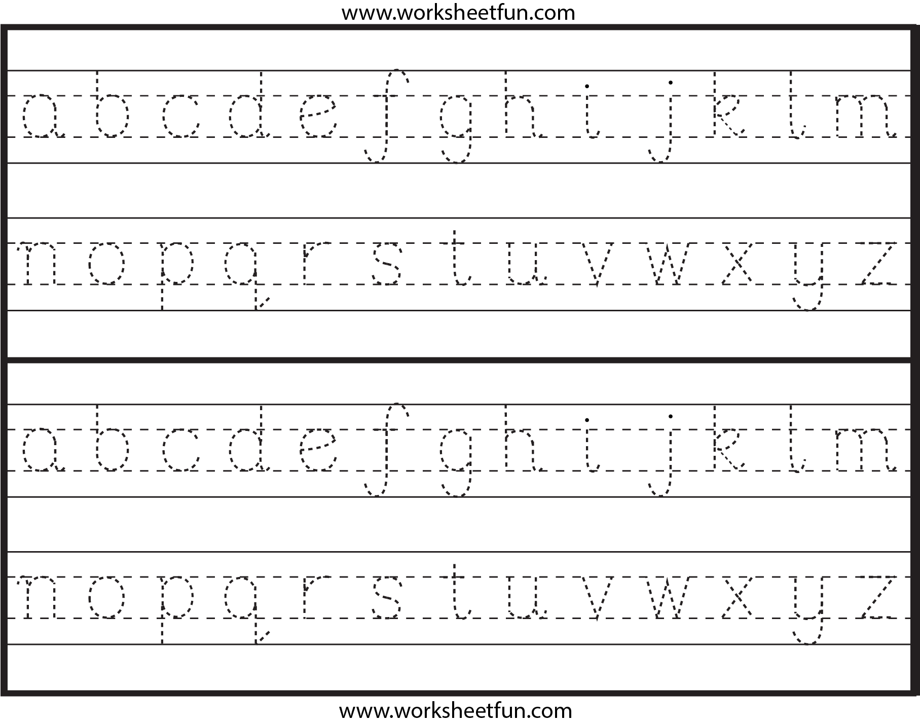 Cursive Letters Az Uppercase And Lowercase