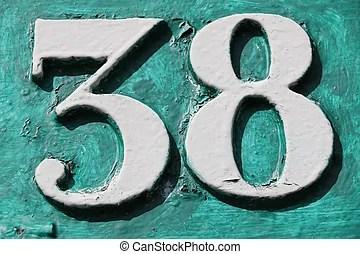 number 38 # 15