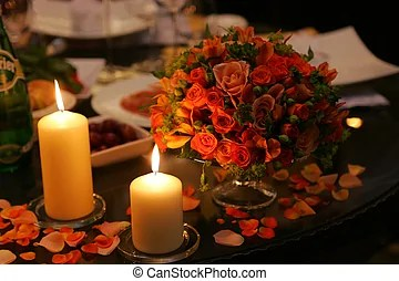 Romantic flowers Stock Photo Images  409 430 Romantic flowers         Romantic table setting   Close up of table decorated with