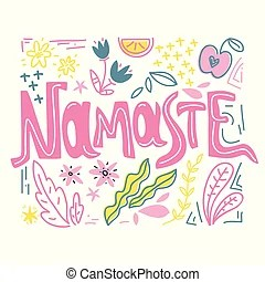 Namaste Illustrations and Clipart. 868 Namaste royalty ...