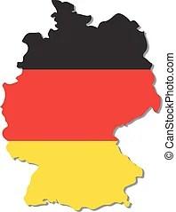 Térkép, lobogó, németország, 3. Térkép, ábra, lobogó ...