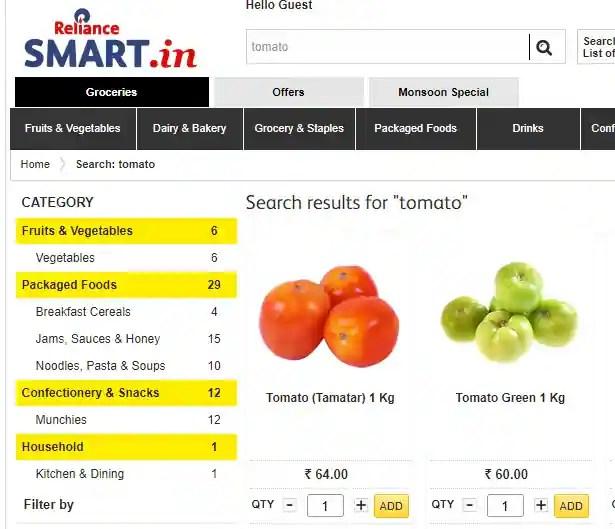 Online Vegetables Shopping Sites