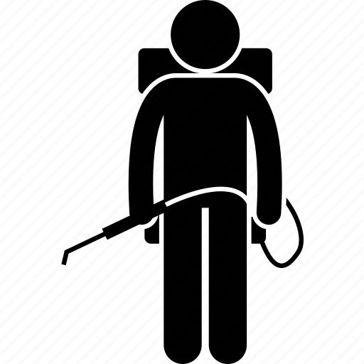 Farmer, insecticide, man, people, pesticide, pump, spray icon