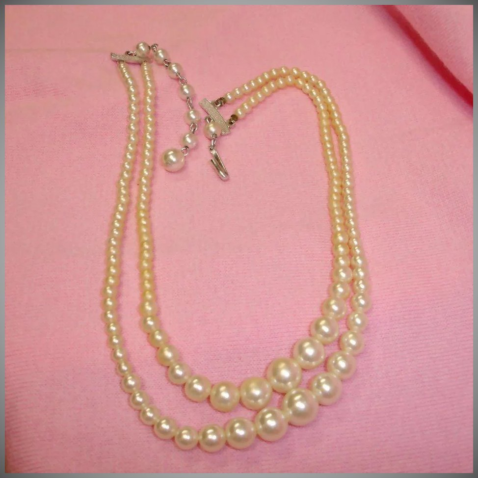 Very Long Double Strand Pearls