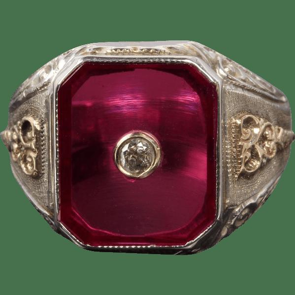 Ruby Diamond Set Inside