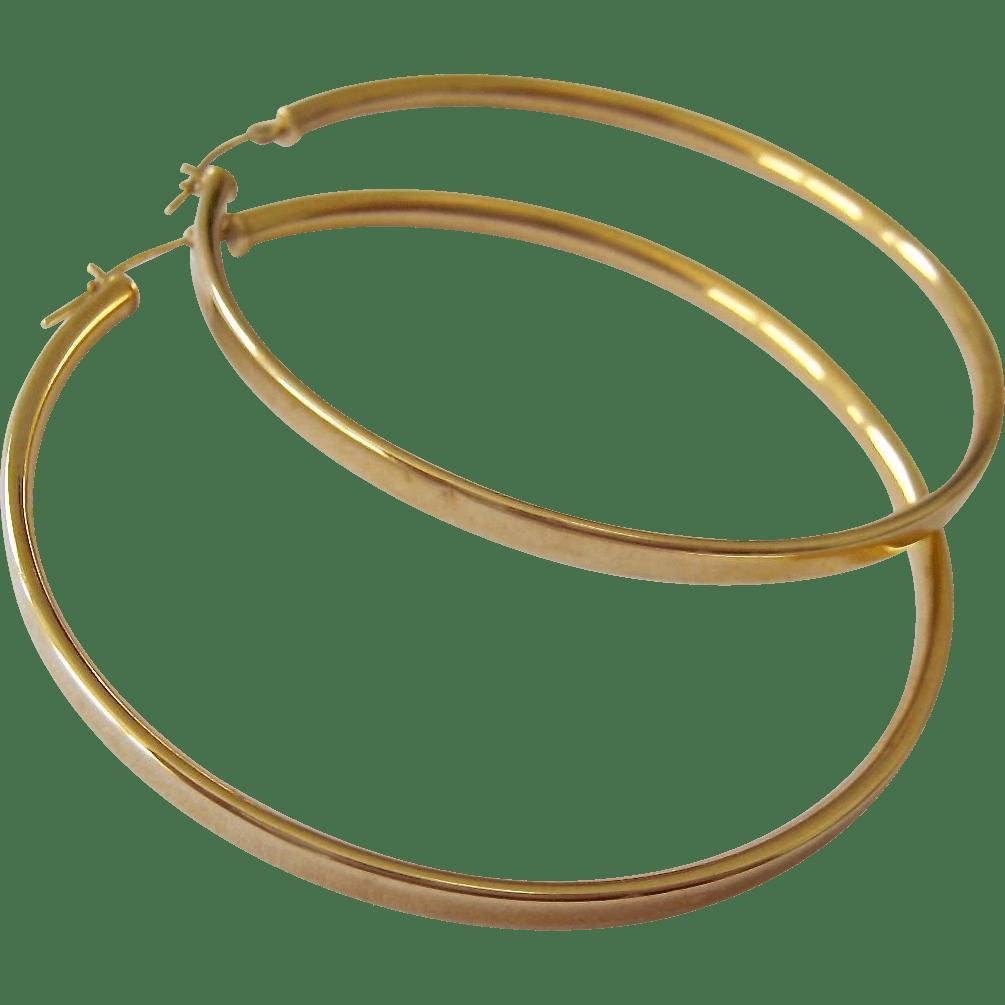 1 2 Diameter Gold Hoop Earrings