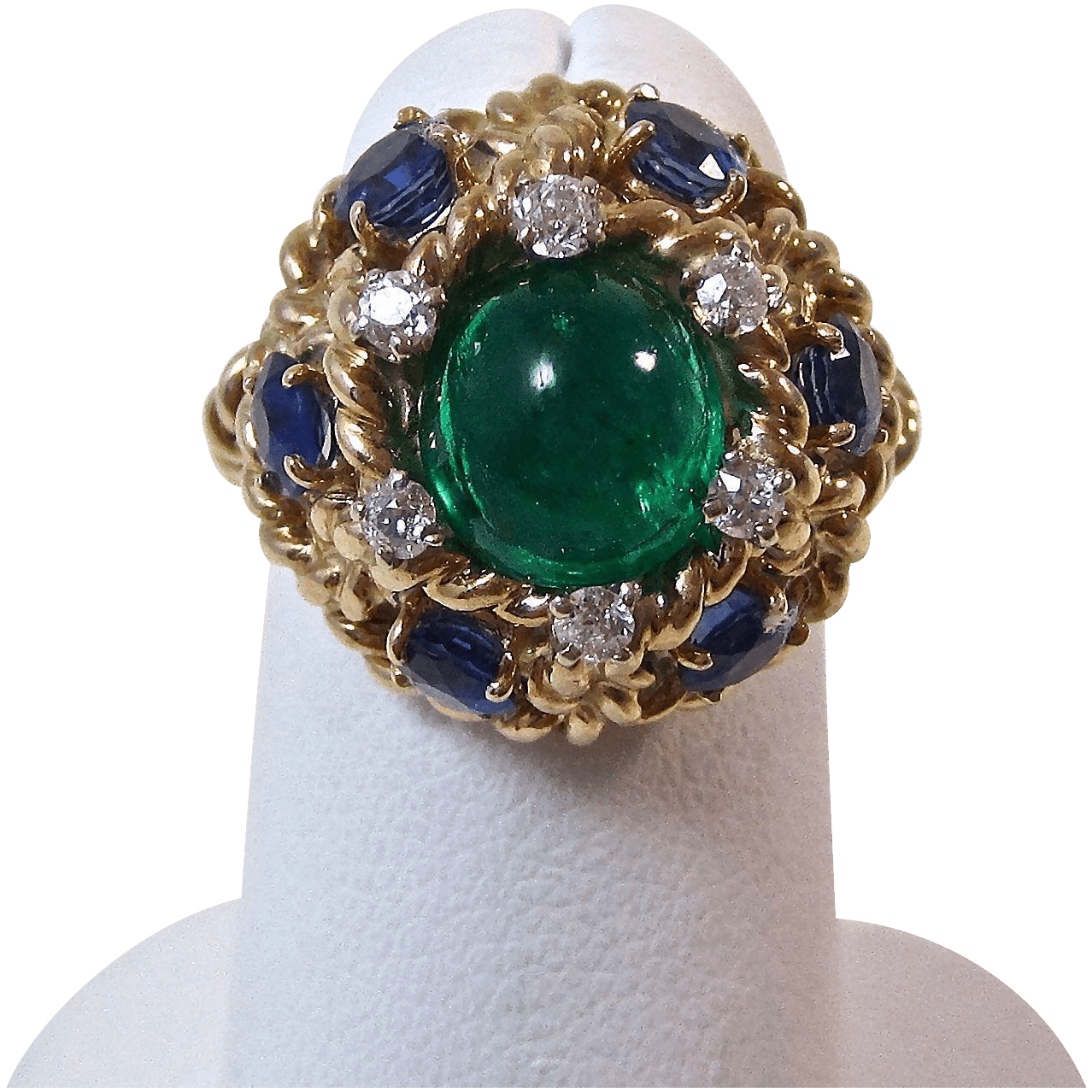 Vintage Estate 1960 S Emerald Sapphire Diamond Engagement Wedding From Mayfairjewel On Ruby Lane