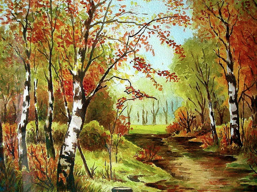 Landscape Watercolor by Boston Artist Charles Gerald ...