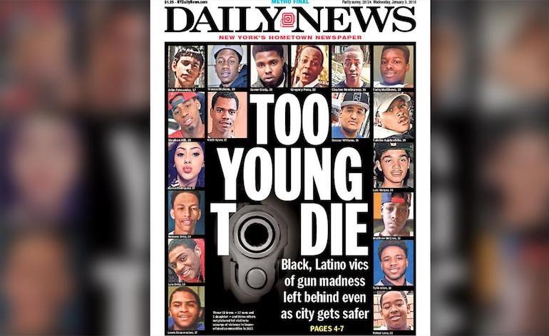 Gun Crime Newspaper Articles Collage