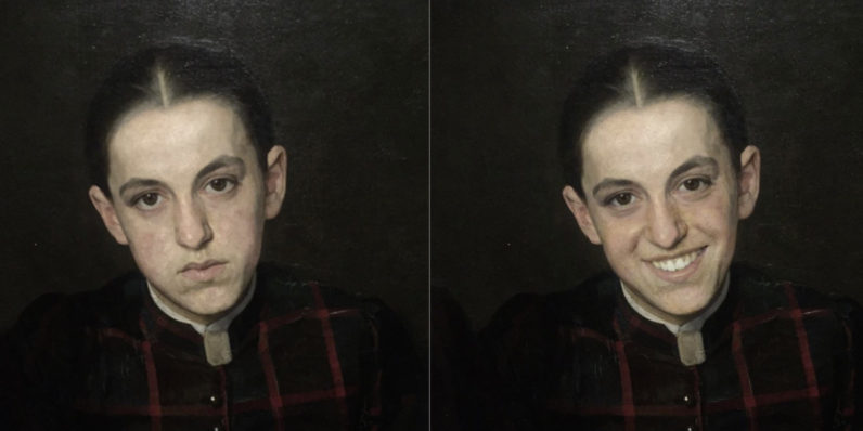 FaceApp cheers up sad paintings at Dutch museum