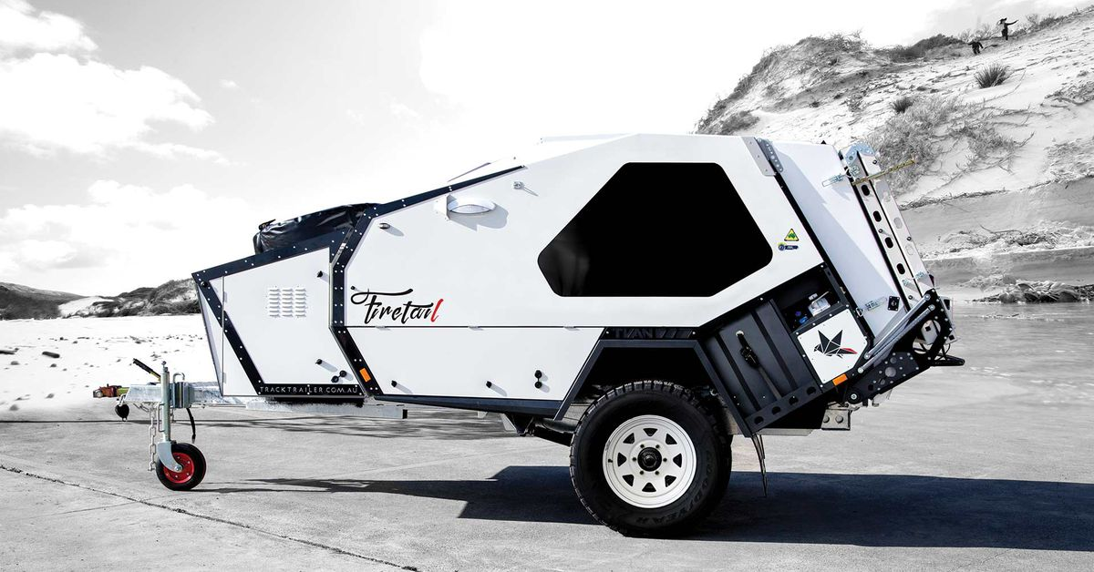 Rugged Teardrop Trailer Has Its Own Pull Out Kitchen Curbed