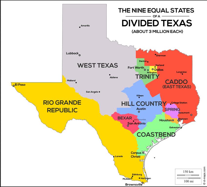 Dallas Map Cities Around Texas