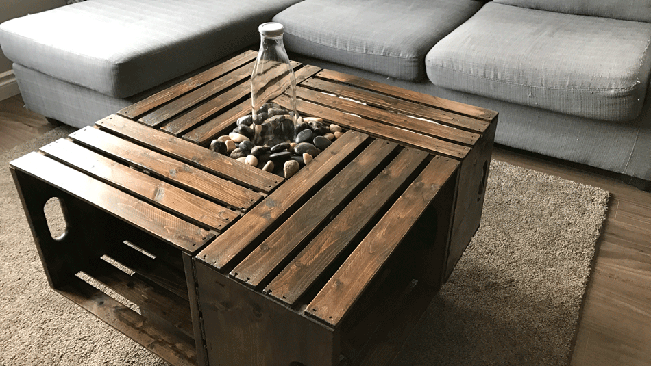 Coffee Table Made From Crates