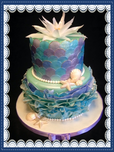 Decoupage Mermaid Cake Cakecentral Com
