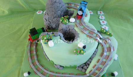 Thomas The Tank Engine Moving Train Cake Cakecentral Com
