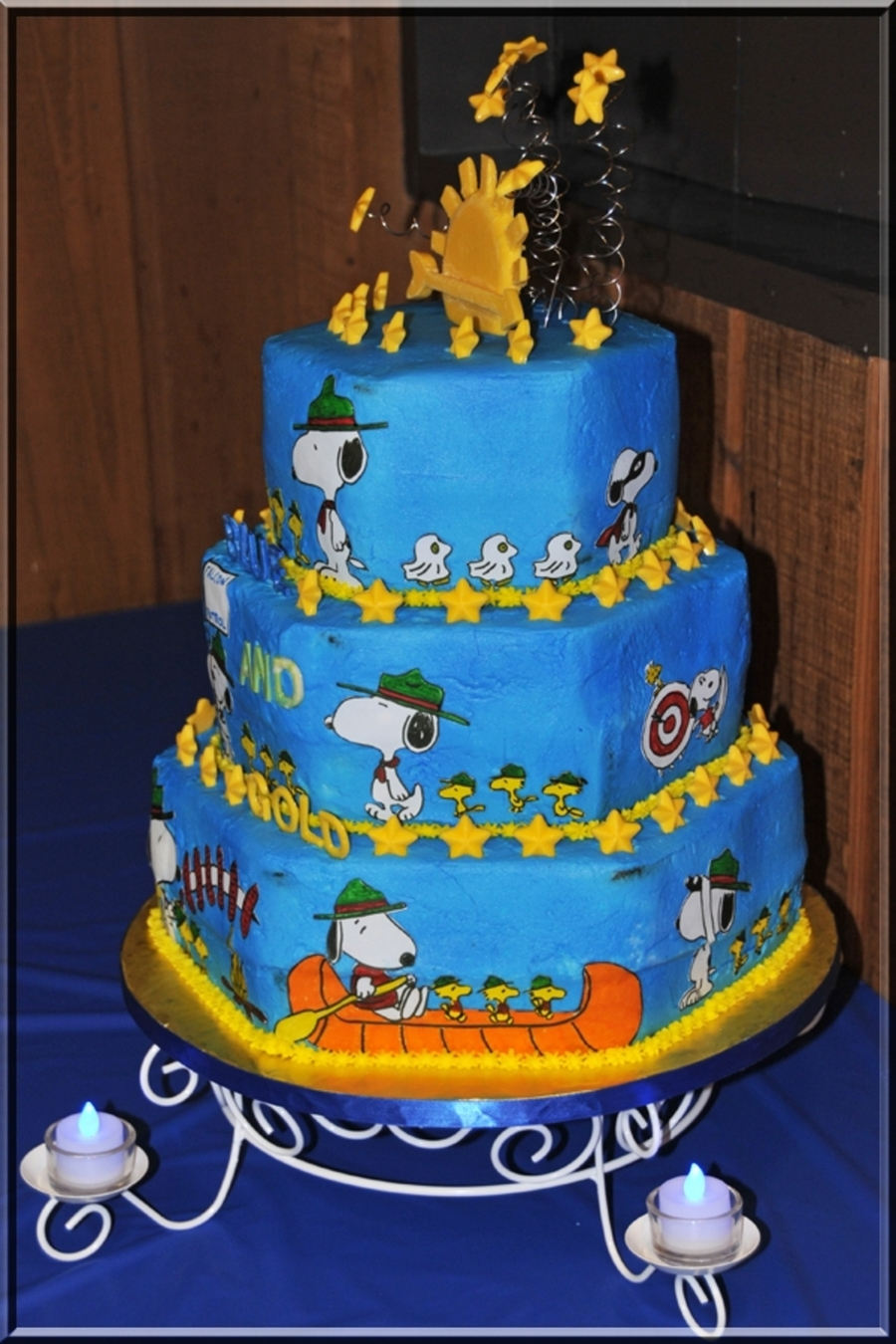 Cub Scouts Blue And Gold Cake Cakecentral Com